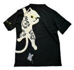 画像8: LIN (リン) 黒猫Lamy &ネズミEarl  ぶら下がりラミ&ジャンピングアールTシャツ  プリント 刺繍 Tシャツ  ATL-75015 (8)