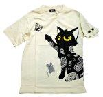 画像6: LIN (リン) 黒猫Lamy &ネズミEarl  蝶が気になるラミ&アールTシャツ  プリント 刺繍 Tシャツ  ATL-75014 (6)