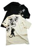 画像1: LIN (リン) 黒猫Lamy &ネズミEarl  キングラミTシャツ プリント 刺繍 Tシャツ  ATL-75016 (1)