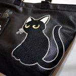 画像11: LIN (リン) 黒猫Lamy &ネズミEarl  PUレザー トートバック AL-7581 (11)