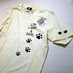 画像9: LIN (リン) 黒猫Lamy &ネズミEarl  キングラミTシャツ プリント 刺繍 Tシャツ  ATL-75016 (9)