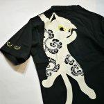 画像11: LIN (リン) 黒猫Lamy &ネズミEarl  ぶら下がりラミ&ジャンピングアールTシャツ  プリント 刺繍 Tシャツ  ATL-75015 (11)