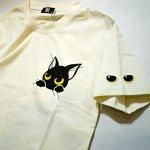画像5: LIN (リン) 黒猫Lamy &ネズミEarl  ぶら下がりラミ&ジャンピングアールTシャツ  プリント 刺繍 Tシャツ  ATL-75015 (5)