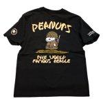 画像2: PEANUTS SNOOPY × LOWBLOW KNUCKLE コラボ [ ミリタリー ] 刺繍 プリント Tシャツ  551404 (2)
