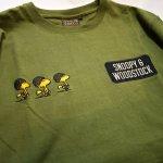 画像10: PEANUTS SNOOPY × LOWBLOW KNUCKLE コラボ [ ミリタリー ] 刺繍 プリント Tシャツ  551404 (10)