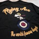 画像4: PEANUTS SNOOPY × LOWBLOW KNUCKLE コラボ [ ACE ] 刺繍 プリント Tシャツ  551406 (4)
