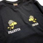 画像7: PEANUTS SNOOPY × LOWBLOW KNUCKLE コラボ [ ACE ] 刺繍 プリント Tシャツ  551406 (7)