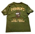 画像7: PEANUTS SNOOPY × LOWBLOW KNUCKLE コラボ [ ミリタリー ] 刺繍 プリント Tシャツ  551404 (7)