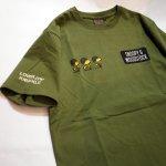 画像12: PEANUTS SNOOPY × LOWBLOW KNUCKLE コラボ [ ミリタリー ] 刺繍 プリント Tシャツ  551404 (12)