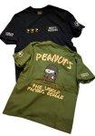 画像1: PEANUTS SNOOPY × LOWBLOW KNUCKLE コラボ [ ミリタリー ] 刺繍 プリント Tシャツ  551404 (1)