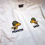 画像13: PEANUTS SNOOPY × LOWBLOW KNUCKLE コラボ [ ACE ] 刺繍 プリント Tシャツ  551406 (13)