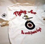 画像12: PEANUTS SNOOPY × LOWBLOW KNUCKLE コラボ [ ACE ] 刺繍 プリント Tシャツ  551406 (12)