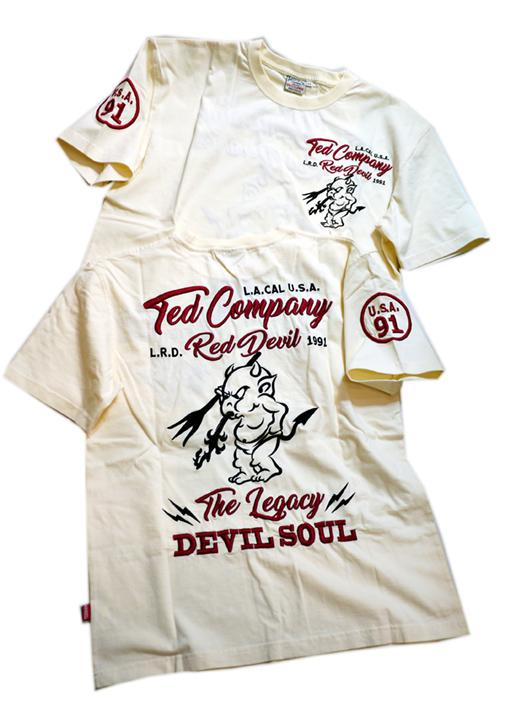画像1: TEDMAN(テッドマン) 刺繍Tシャツ TDSS-534 (1)