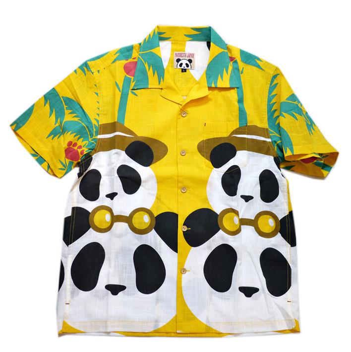 画像1: Pandiesta Japan (パンディエスタ) パネル柄 コットンアロハシャツ 551859  イエロー (1)
