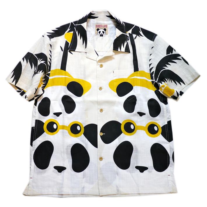 画像1: Pandiesta Japan (パンディエスタ) パネル柄 コットンアロハシャツ 551859 ホワイト (1)